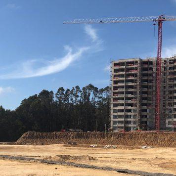LagunaMar: finaliza la obra gruesa del primer edificio